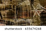 ocher pattern background | Shutterstock . vector #655674268