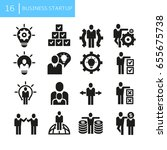 business startup concept icons | Shutterstock .eps vector #655675738
