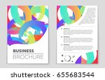 abstract vector layout... | Shutterstock .eps vector #655683544
