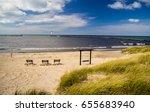 lake michigan beach background. ... | Shutterstock . vector #655683940