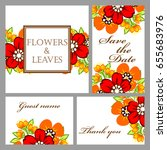 romantic invitation. wedding ... | Shutterstock . vector #655683976