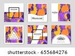 abstract vector layout... | Shutterstock .eps vector #655684276