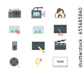 the set of colorful flat icons. ... | Shutterstock .eps vector #655685860