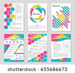 abstract vector layout... | Shutterstock .eps vector #655686673