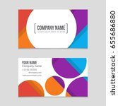 abstract vector layout... | Shutterstock .eps vector #655686880