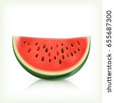 watermelon isolated on white... | Shutterstock .eps vector #655687300