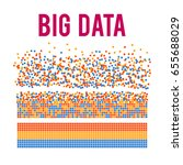 big data visualization. machine ... | Shutterstock .eps vector #655688029