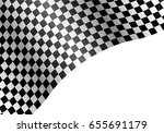 checkered flag wave on white...   Shutterstock .eps vector #655691179