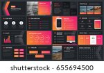 modern dark presentation... | Shutterstock .eps vector #655694500