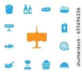 set of 13 restaurant icons set... | Shutterstock .eps vector #655696336