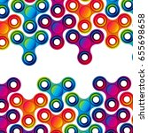 fidget hand finger spinner... | Shutterstock . vector #655698658
