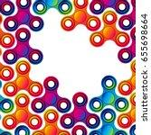 fidget hand finger spinner... | Shutterstock . vector #655698664