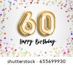 60th birthday celebration with... | Shutterstock . vector #655699930