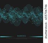 scientific abstract vector... | Shutterstock .eps vector #655706746