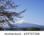 tree and mt. fuji | Shutterstock . vector #655707208
