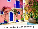 colorful greece series  ... | Shutterstock . vector #655707514