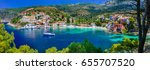colorful greece series  ... | Shutterstock . vector #655707520