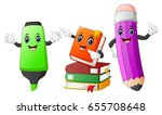cute stationery cartoon   Shutterstock . vector #655708648