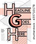 bold typography poster design ... | Shutterstock .eps vector #655710178