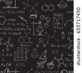 vector seamless chemistry... | Shutterstock .eps vector #655717450