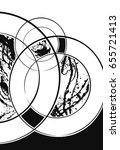 digital abstract poster ...   Shutterstock . vector #655721413