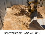 excavation works for the... | Shutterstock . vector #655731040