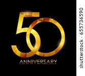 template 50 years anniversary... | Shutterstock .eps vector #655736590