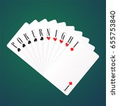 poker night vector logo  icon.... | Shutterstock .eps vector #655753840