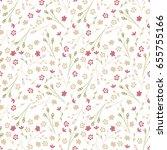 vintage flowery pattern.... | Shutterstock .eps vector #655755166