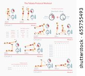 tabata protocol workout with... | Shutterstock .eps vector #655755493
