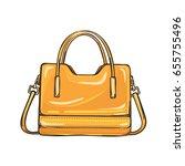 trendy orange women bag with... | Shutterstock .eps vector #655755496