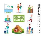 good habits vector... | Shutterstock .eps vector #655757704