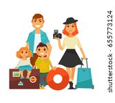 family people travel vector... | Shutterstock .eps vector #655773124