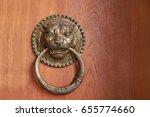 Lion Head Door Knocker  Ancien...