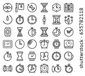 timer icons set. set of 36... | Shutterstock .eps vector #655782118
