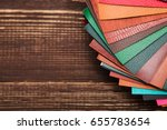 color palette  colored leather ... | Shutterstock . vector #655783654