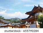 korean traditional house   Shutterstock . vector #655790284