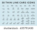 big set of 50 thin line stroke... | Shutterstock .eps vector #655791430
