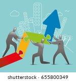 men piecing together upward...   Shutterstock .eps vector #655800349
