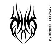 tattoo tribal vector design.... | Shutterstock .eps vector #655801639