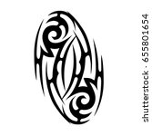 tribal tattoo art designs.... | Shutterstock .eps vector #655801654