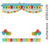 congratulations with bunting... | Shutterstock .eps vector #655813150