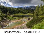 by the lake | Shutterstock . vector #655814410