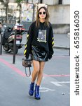 paris october 4  2016. street... | Shutterstock . vector #655816030