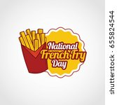 national french fry day | Shutterstock .eps vector #655824544