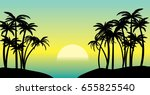 Vector Illustration Of Palm...