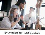 young multiethnic designers... | Shutterstock . vector #655826623