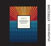 santa barbara california beach... | Shutterstock .eps vector #655831348