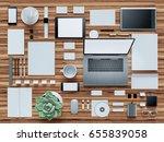 computer  laptop  digital... | Shutterstock . vector #655839058