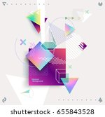 abstract colorful geometric... | Shutterstock .eps vector #655843528